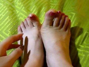 (2) saya asian GF amp; 039; s kaki, jari kaki dan Sol! Fetish kaki Cina!